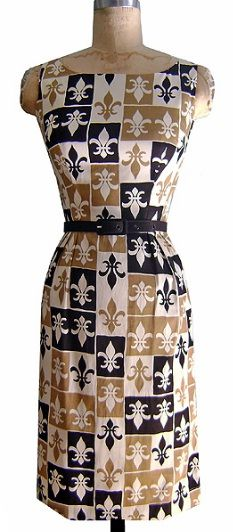 Trashy Diva Audrey Pencil Dress in Fleur-de-lis pattern - Listen up, ladies! The world's most stylish ode to NOLA is on sale for $92! Snap 'em up!