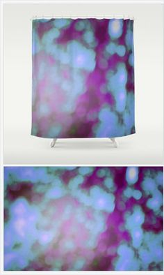 Purple Bokeh Shower Curtain - Original Bokeh Photograph - Purple Art - Bathroom Decor - Purple Shower Curtain - Made to Order