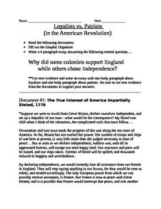 Help with an essay question about the American Revolution?