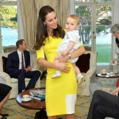 The duchess of Cambridge Kate Middleton and Baby George