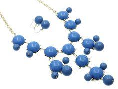Pretty pretty!!  blue bubble necklace!