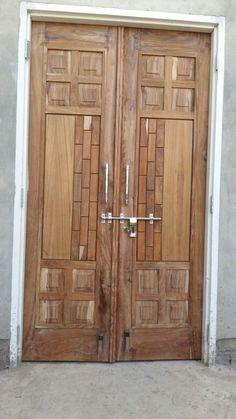 Door Design Gallery 20 | LSWORLD Wooden Double Doors, Wooden Front Door Design, Double Door Design, Wooden Doors, Flush Door Design, Door Gate Design, Pooja Room Door Design, Door Design Interior, Latest Door Designs