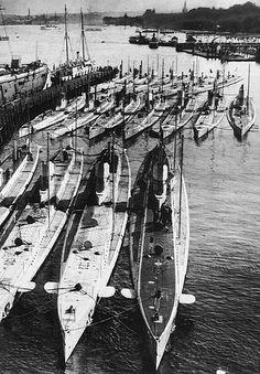 German U-boats in port