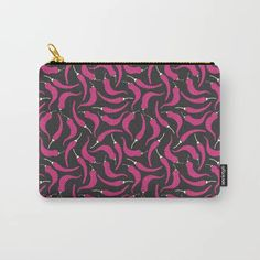 It can be used for toiletries, art supplies, makeup and smaller electronics. Carry-all pouch is avilable in different sizes. Chilli Food, Art Supplies, Carry On, Pattern Design, Pouch, Stuffed Peppers, Electronics, Makeup, Hot
