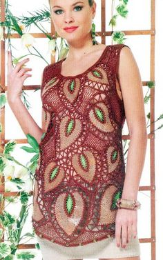crochet knit unlimited: Crochet and leather combination from Duplet and Zhurnal Mode