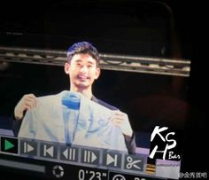 cool Kim Soo Hyun - Today was held in Busan Lotte Family Concert.  Preview of fansites cr: Homi1228