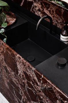 Officina Biasol Melbourne Design Studio in Cremorne Australian Interior Design, Interior Design Awards, Bathroom Interior Design, Light Pink Walls, Melbourne, Reeded Glass, Steel Shelving, Glass Partition, Kitchens