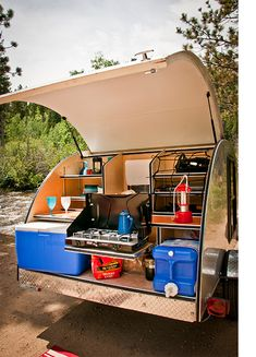 Stunning Teardrop Trailer Rv Camper Model Ideas To Consider, There are lots of reasons why folks want teardrop trailers. Let's look at why you need to consider a teardrop trailer. A teardrop'' trailer is a littl. Rv Camping, Camping Tools, Camping Equipment, Camping Ideas, Camping Essentials, Outdoor Camping, Glamping, Camping Tricks, Camping Hammock