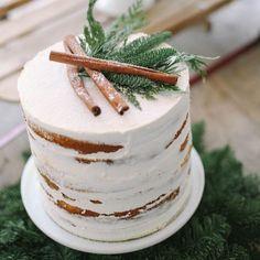 We are in love with this minimalist naked #cake! (Photo by Jacque Erickson) #Inspiration #AllergyFree #GlutenFree #SoyFree #NutFree #PeanutFree #Vegan