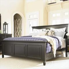 King Bed. I love this bed frame