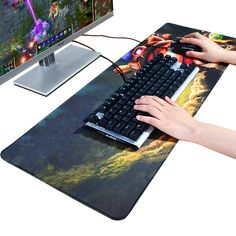 Careful Fffas 70x30cm Large Game Fashion Mouse Pad Mat Dark Fantasy Style Gaming Mousepad Keyboard Decor For Tablet Pc Internet Bar Computer Peripherals