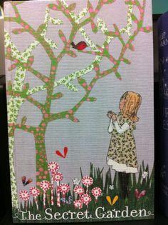Cloth bound edition of The Secret Garden illustrated by Lauren Child