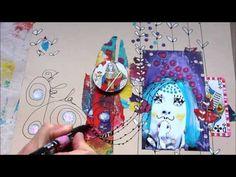 Le Studio des Ginettes: Fantaisies d'impressions avec la Gelli Plate