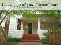 Biblical Homemaking: letting go of your dream house. Read it, feel it, learn it! Mark 4: the parable of the sower and the parable of the sower explained.