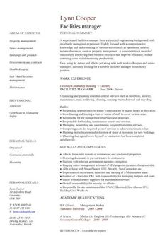 facilities manager cv sample ultimately delivering reliable safe and clean - Best Resume Builder