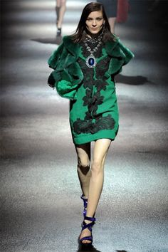 Lanvin Fall 2012 | Paris Fashion Week, green,