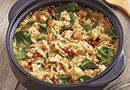 Easy No-Stir Risotto - The Pampered Chef®-- this stuff is AMAZING! I made the chicken, sun-dried tomato and spinach version :)