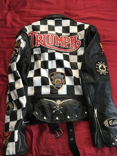 Excited to share the latest addition to my shop: VTG Men's Custom Motorcycle Jacket Rocker Jacket Club 59 Cafe Racer Motorcycle Leather, Biker Leather, Motorcycle Jacket, Leather Coats, Riders Jacket, Leather Jackets, Cafe Racer Jacket, Biker Wear, Harley Davidson
