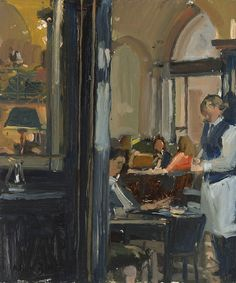 Nick Botting |The Wolseley IV The Wolseley, Illustration Art, Illustrations, Painting People, Pablo Picasso, Watercolour Painting, Landscape Paintings, Melbourne, Folk