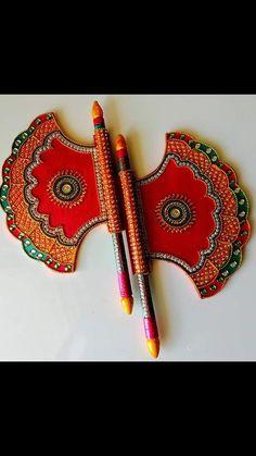 Mehendi Decor Ideas, Thali Decoration Ideas, Diwali Decorations, Diy Clay, Clay Crafts, Coconut Decoration, Janmashtami Decoration, Homemade Dolls, Diwali Craft