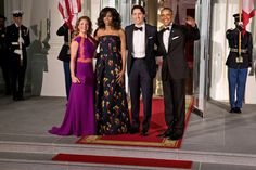 From left, Sophie Grégoire Trudeau, Michelle Obama, Prime Minister Justin Trudeau of Canada and President Obama at a state dinner at the White House in March. Credit Stephen Crowley/The New York Times
