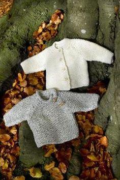 Børne- baby bluse og trøje i perlestrik eller ret