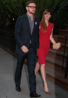 Justin Timberlake and Jessica Biel polish up to attend dinner with President Obama