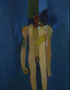 """Standing Figure - Kouros"", 1960, by Keith Vaughan (1912–1977)"