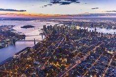 One World Trade Center, Manhattan and Brooklyn Bridges, Manhattan, New York City, New York, USA Photographic Print by Jon Arnold at Art.com