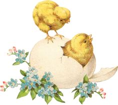 More Vintage Easter Chicks (10 images on this page)