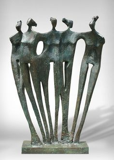 Shop figurative sculptures and other fine sculptures from the world's best art galleries. Family Sculpture, Modern Art Sculpture, Sculpture Metal, Human Sculpture, Geometric Sculpture, Pottery Sculpture, Wall Sculptures, Light Painting, Figurative Art