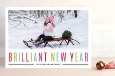 Brilliant Holiday New Year's Photo Cards by Kristie Kern at minted.com