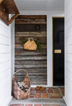 Saunas, Wooden House, Cabin Fever, Rustic Interiors, House In The Woods, Bushcraft, Rustic Decor, Ladder Decor, Sweet Home