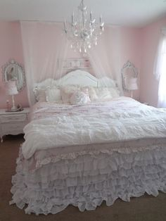 Not So Shabby - Shabby Chic: My new ruffly bedding #ShabbyCottage