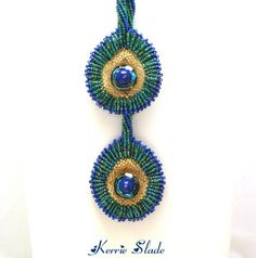 Beaded Peacock Feather Necklace