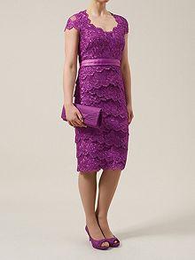 Embellished Lace Layer Dress
