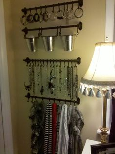 """DIY Jewelry Organizers from """"Control the Clutter: Jewelry"""""""