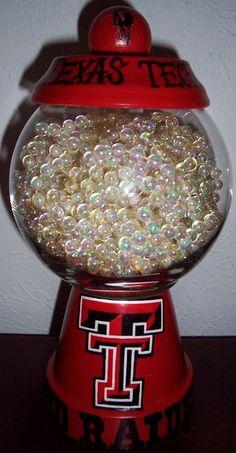 Texas Tech Red Raiders Candy Jar handmade hand painted