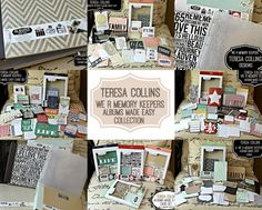 "INSPIRATION - Teresa Collins ""We R Memory Keepers Albums Made Easy Collection"".  Wow, what beautiful cards and albums.  Gotta have them all!"