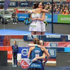 Dos abrazos que significan una nueva final de las dos mejores parejas. Mañana a las 10 el desenlace del #WPTEuskadiOpen  #worldpadeltour #instapadel #padel #padeltime #padeladdict