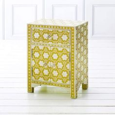 Mio Bedside in Yellow - Bedside Tables - Furniture