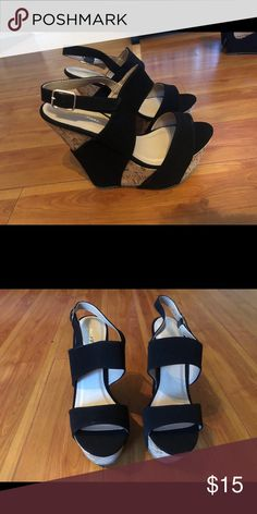 Wedges Wore them once. Cleaning out closet so getting rid of a few items. Cleaning Out Closet, Birkenstock Milano, Wedge Shoes, Rid, Shop My, Wedges, Sandals, Best Deals, Womens Fashion