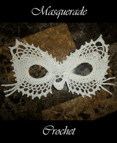 Ravelry: Lace Masquerade Cat Mask pattern by Farrah for 365 Crochet
