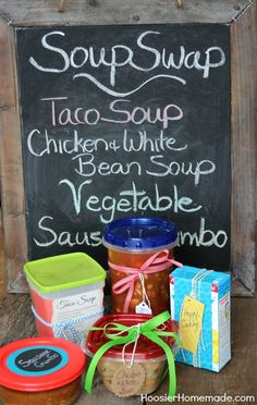 Soup Swap Party -- What a great idea for winter time!