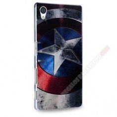 Carcasa plástica diseño capitán América para Sony Xperia Z5
