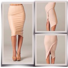 make into a dress loose off the shoulders Office Outfits, Casual Outfits, Fashion Outfits, Apron Dress, Dress Skirt, Nude Skirt, Tan Skirt, No Ordinary Girl, Work Fashion