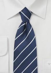 XXL-Krawatte Streifenmuster nachtblau günstig kaufen . . . . . der Blog für den Gentleman - www.thegentlemanclub.de/blog
