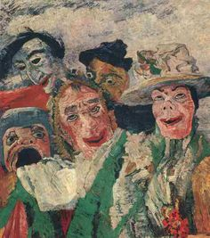 Visionary, mystical, allegorical, moral bitter, ironic, caustic, sarcastic since the grotesque, introverted narcissist but also polemically aggressive, obsessed with a persecution complex. So you can define James Ensor (1860-1949), abnormal but vital figure in modern art, the great forerunner of Expressionism and beyond