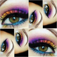Eye Make Up Ideas...which I had this much talent!