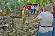 Vicky can trace her line back to Sparrowhawk and Sarah Persinger through their son Wahlowsee and his son Docksee. Here she is working at the Native village at Natural Bridge Virginia. Even during the times in Virginia when Natives had to hide who they were, her family continued to practice the traditions taught by Sparrowhawk including giving family member Cherokee names.